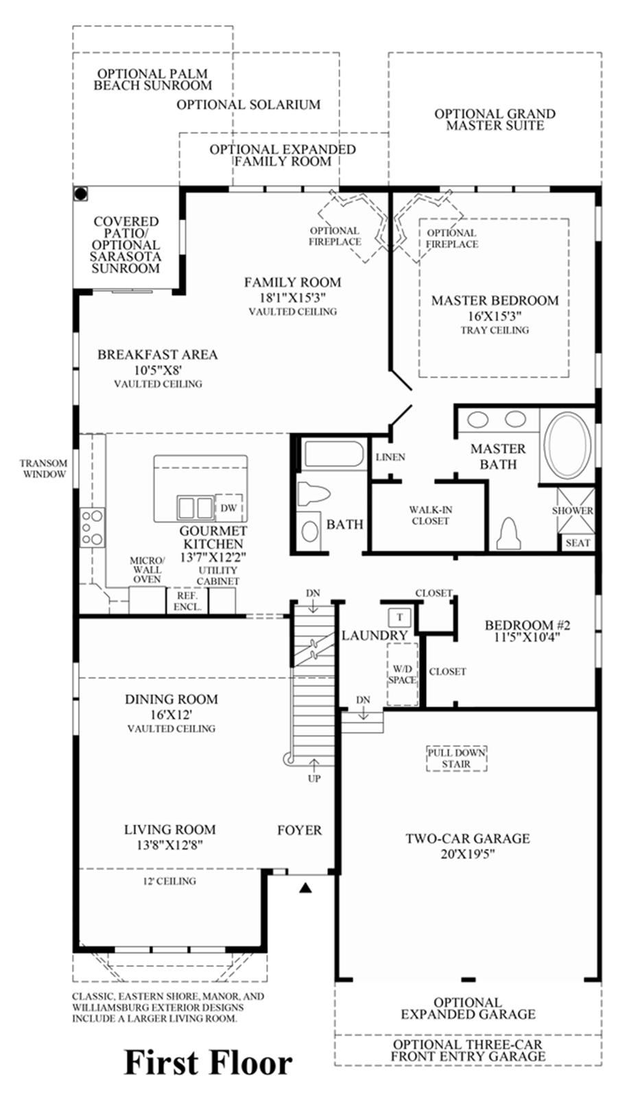 Regency at wappinger villas the linwood home design for Floor plans first