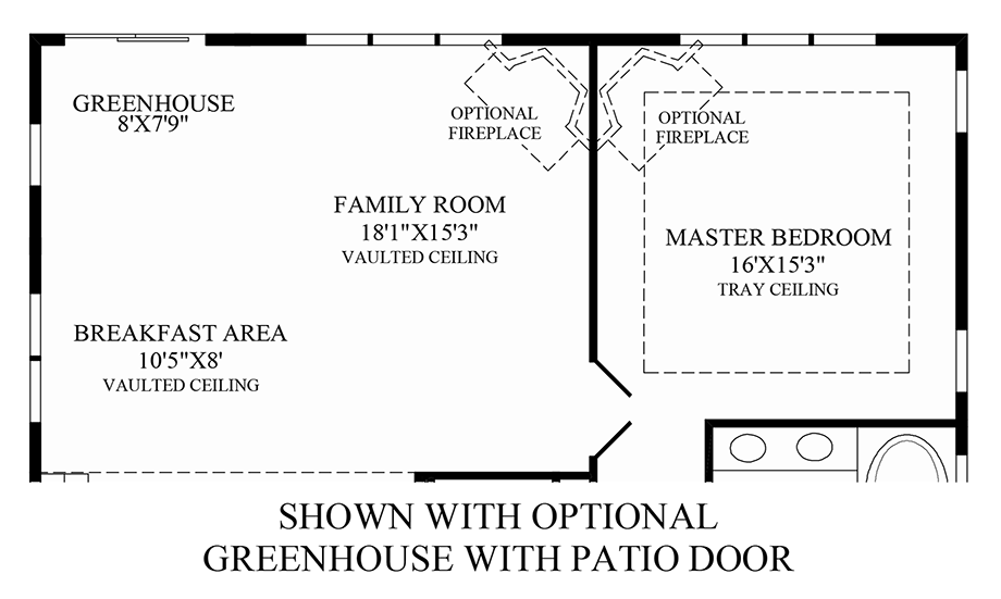 Optional Greenhouse with Patio Door Floor Plan