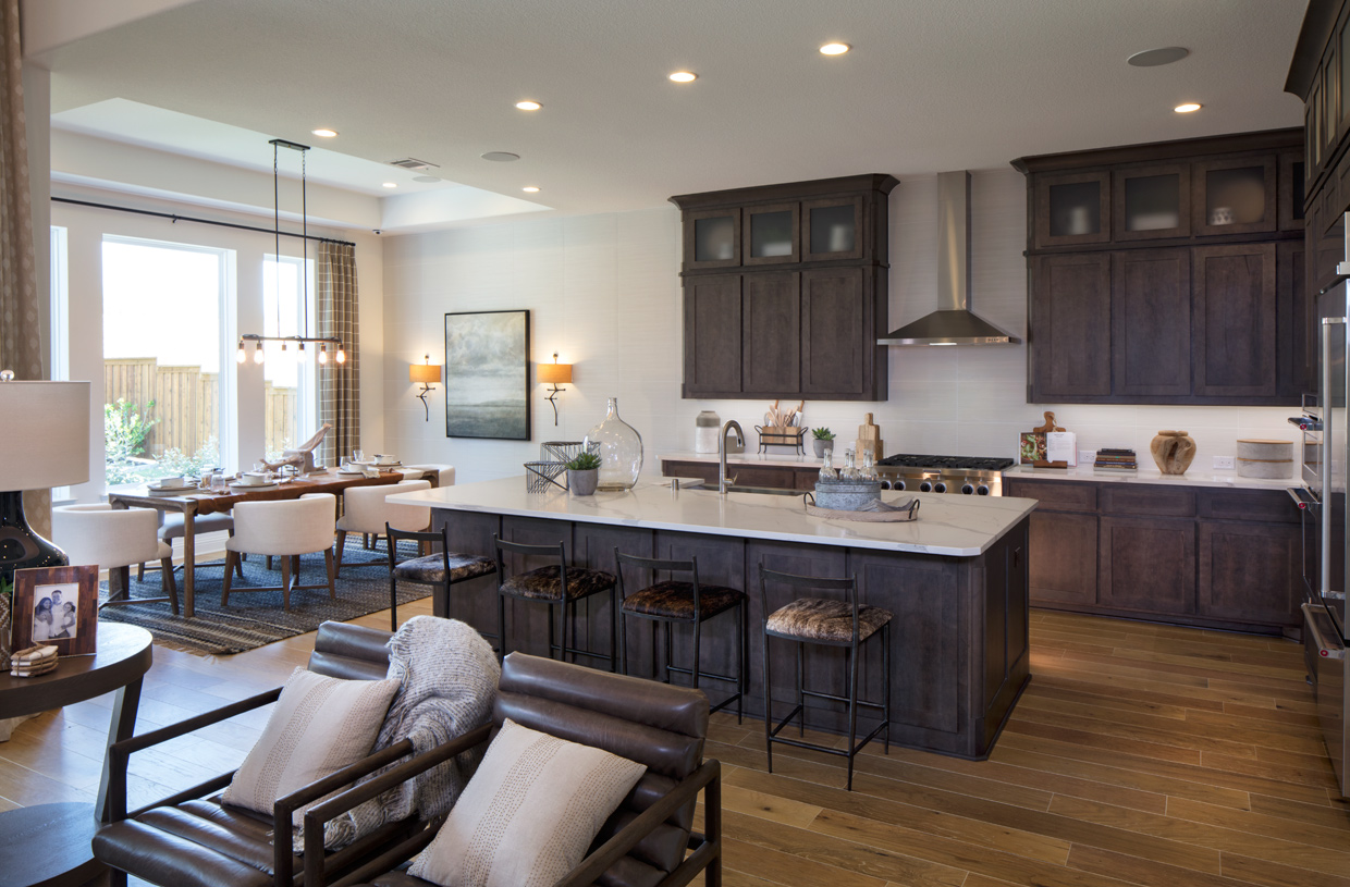 Large kitchen with a center island