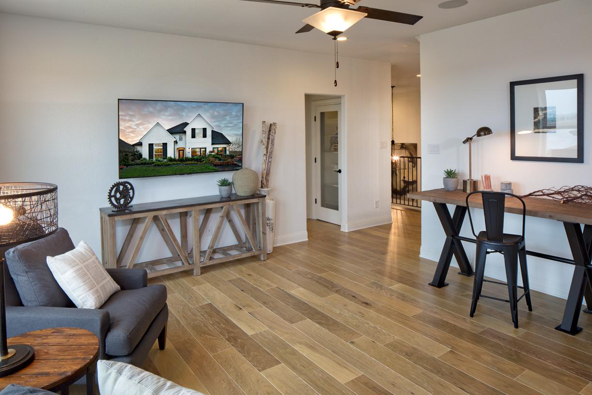 Flex room offers versatile living space