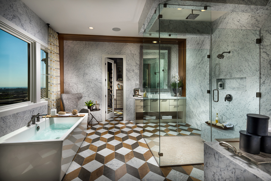 Bella vista at orchard hills the lusso home design for Perfect master bathroom