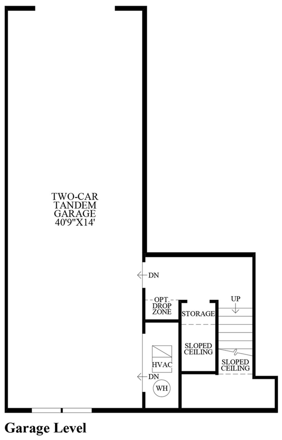 Garage Level Floor Plan