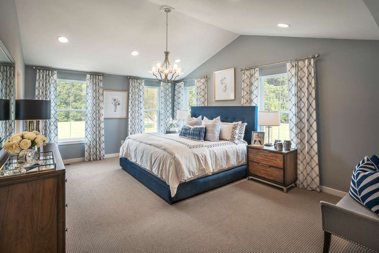 Spacious primary bedroom suite