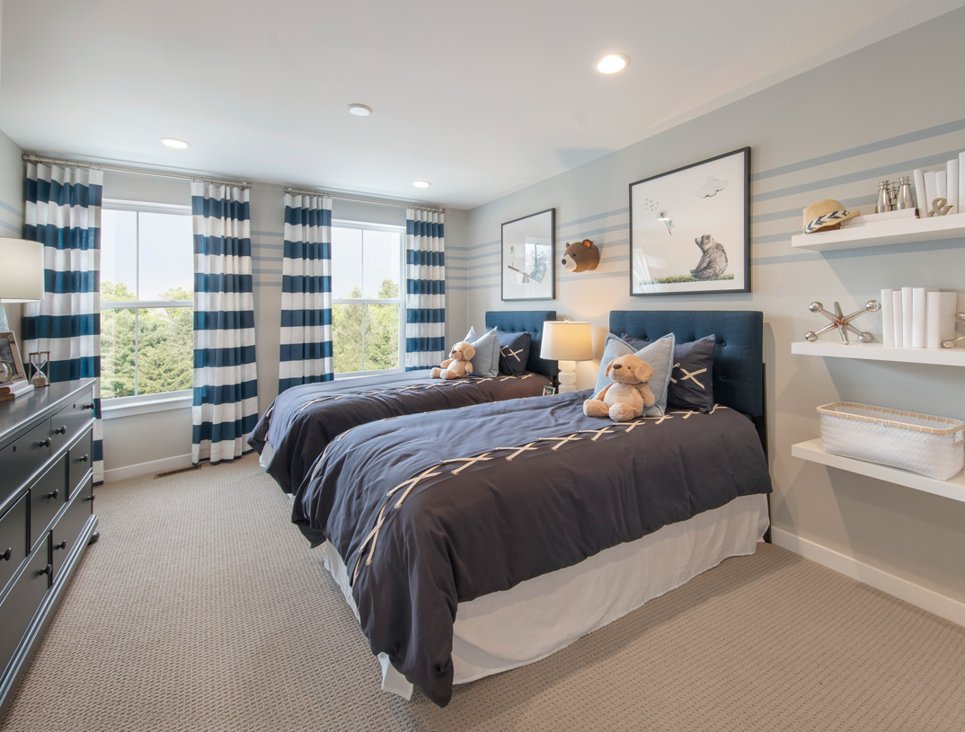 Secondary bedrooms, featuring sizable closets