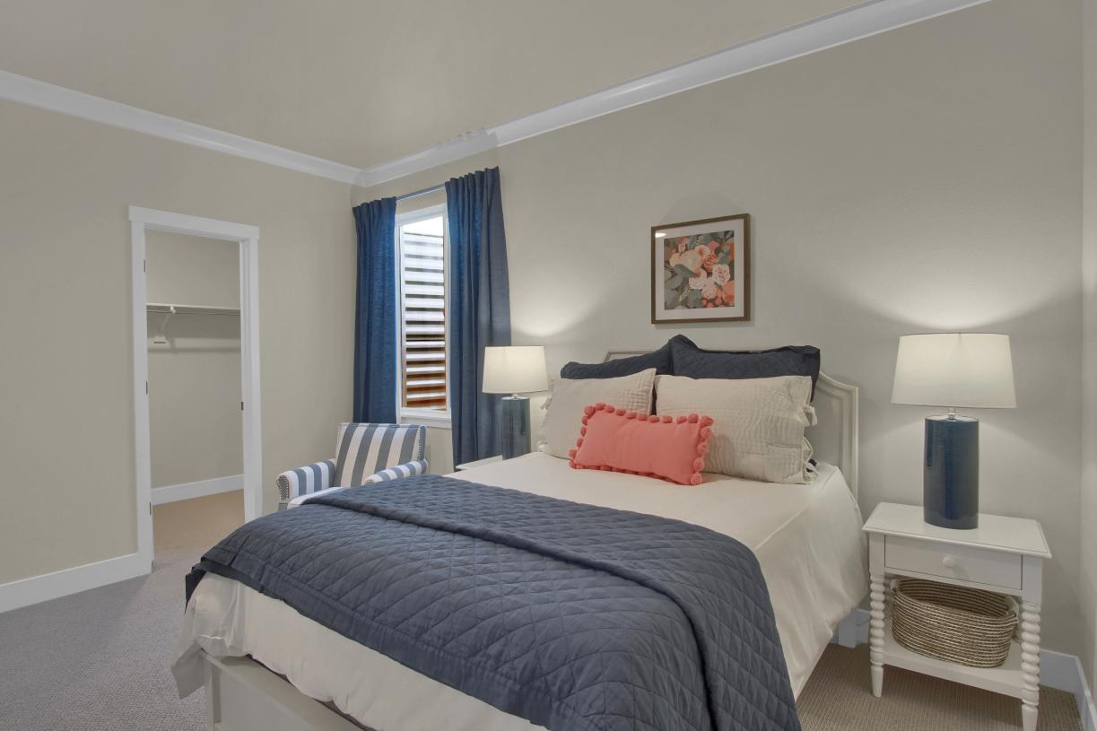Another lower level bedroom featuring a walk-in closet
