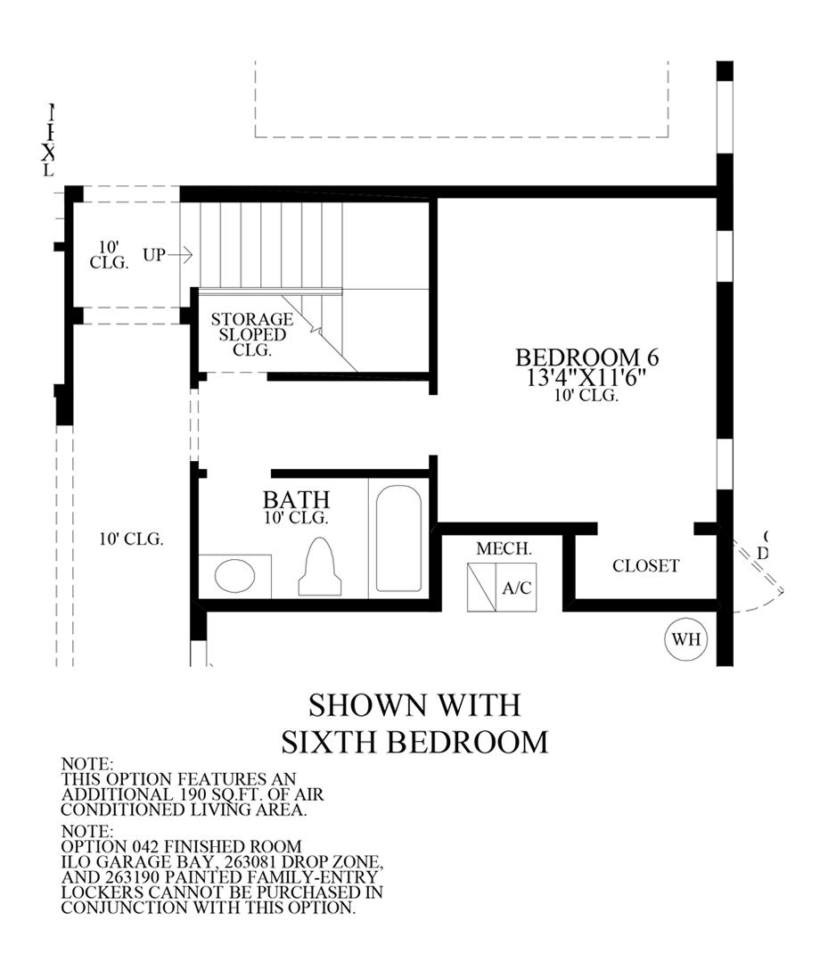 6th Bedroom Floor Plan