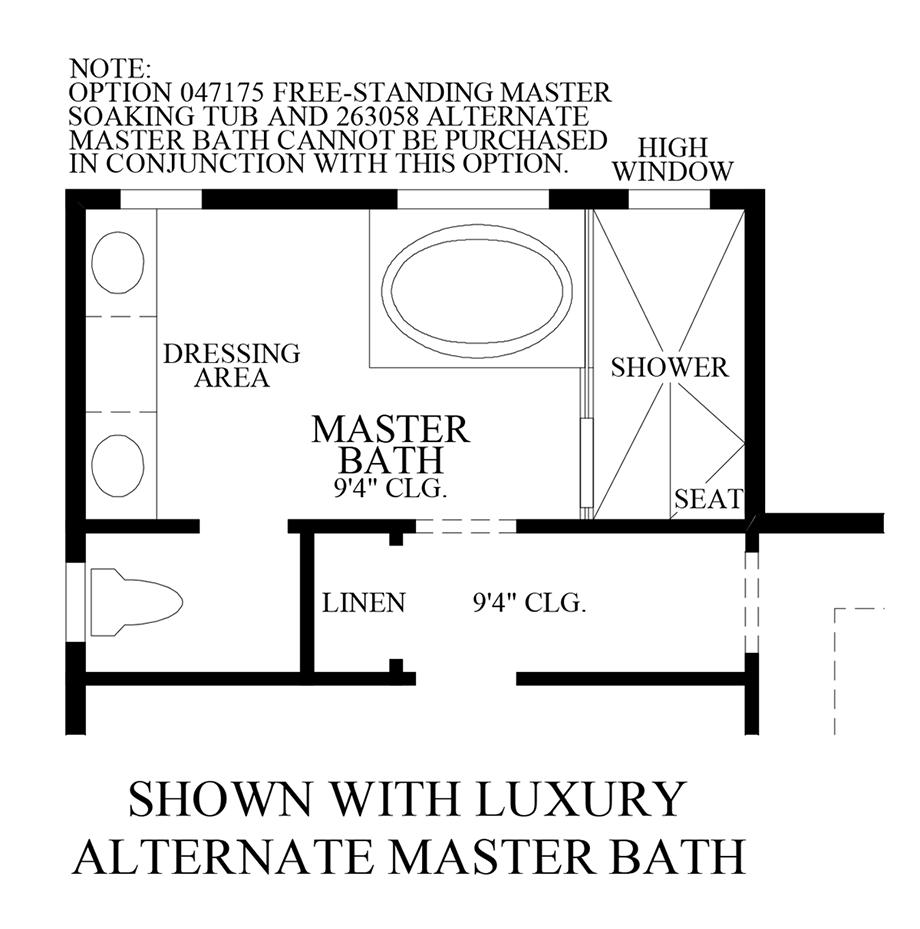 Luxury Alternate Master Bath Floor Plan