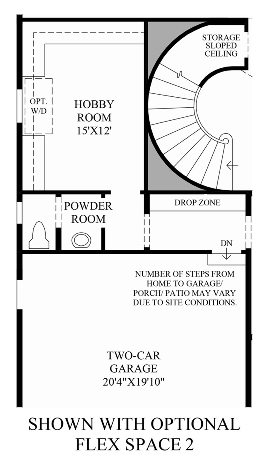 Optional Flex Space 2 Floor Plan