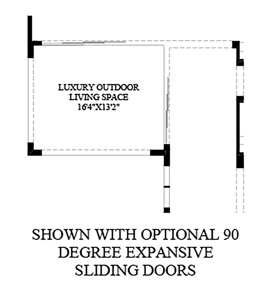 Optional 90 Degree Expansive Sliding Doors Floor Plan