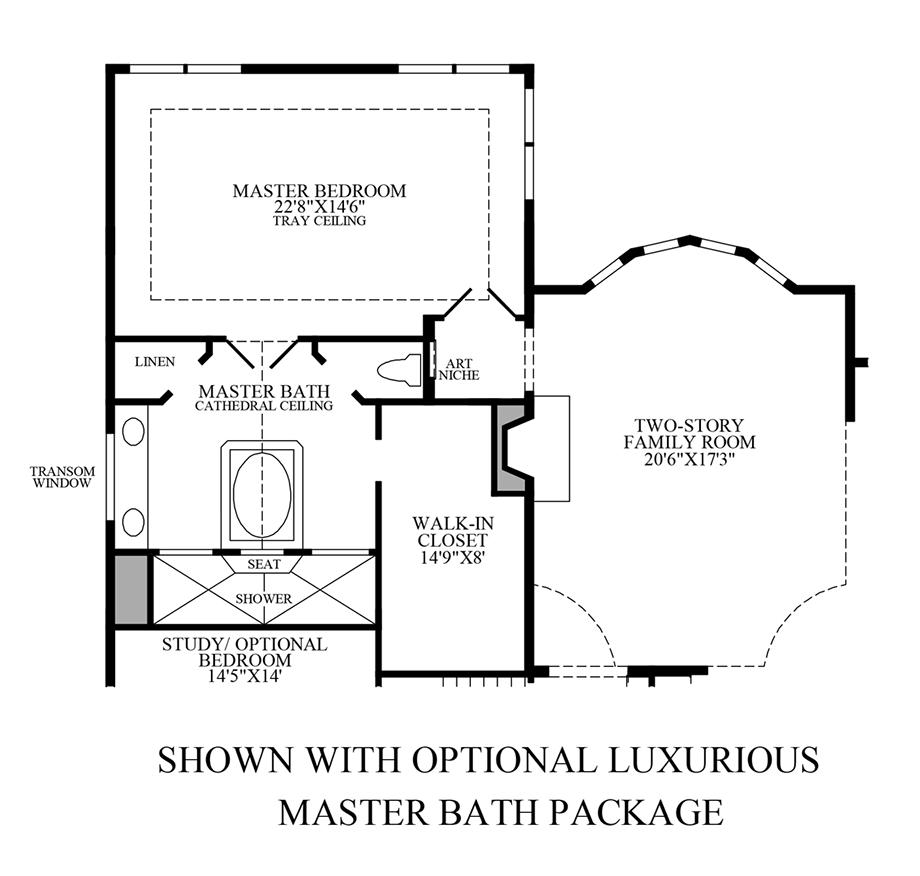 Optional Luxurious Master Bath Package Floor Plan
