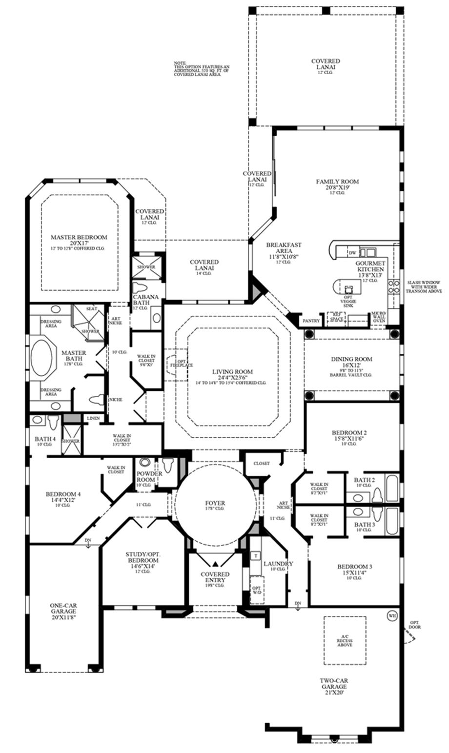 Optional Additional Lanai Floor Plan