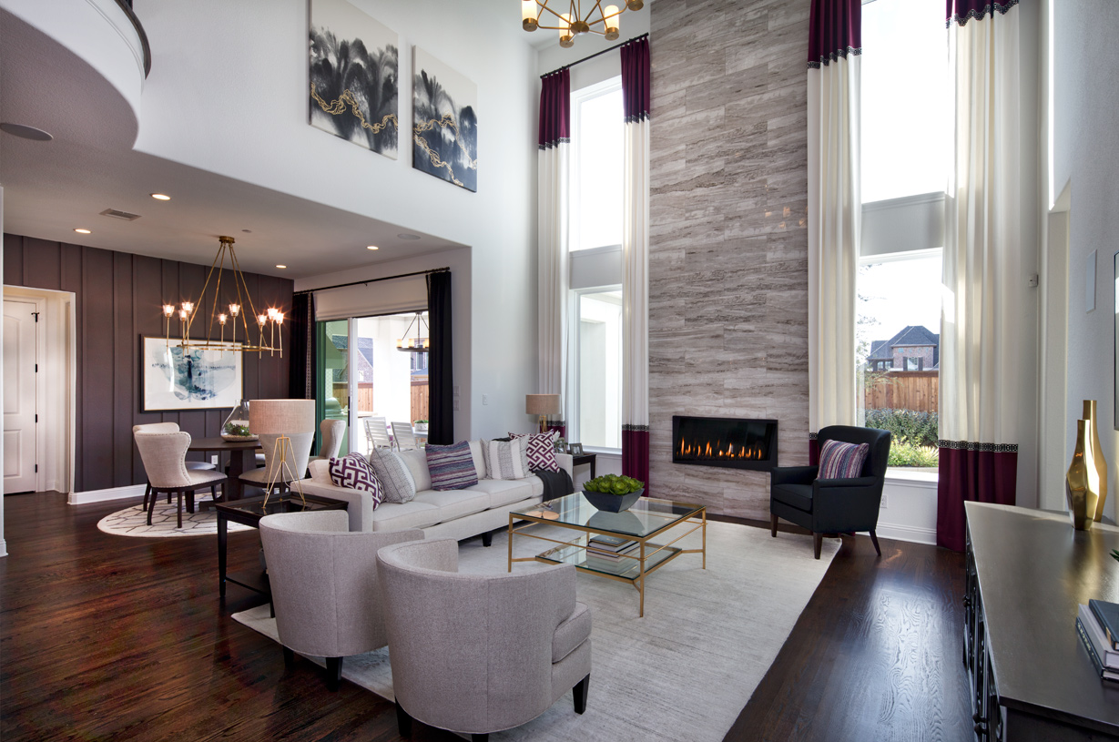 Spacious casual dining area opens to the two-story great room
