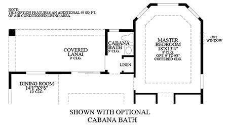 Optional Cabana Bath