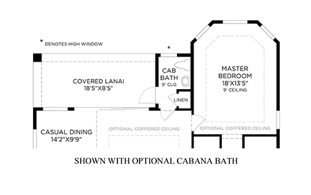 Optional Cabana Bath