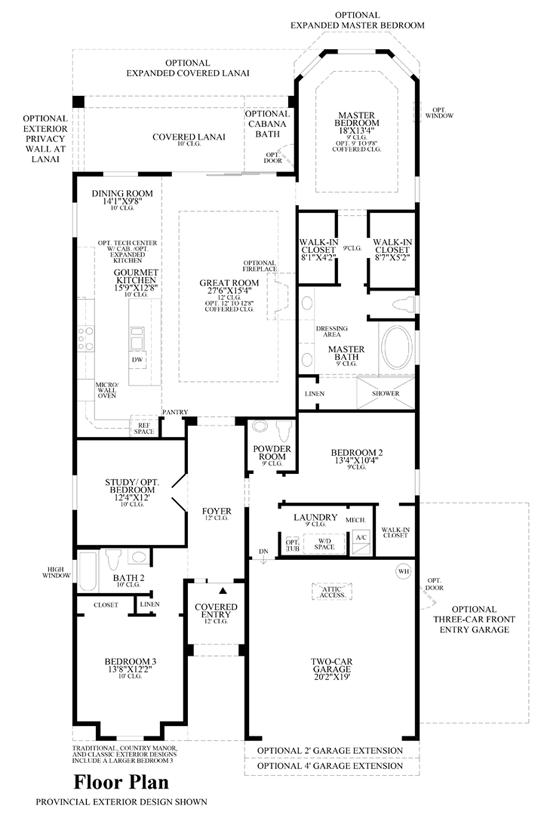 Julington Lakes - Floor Plan