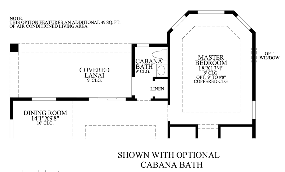 Optional Cabana Bath Floor Plan