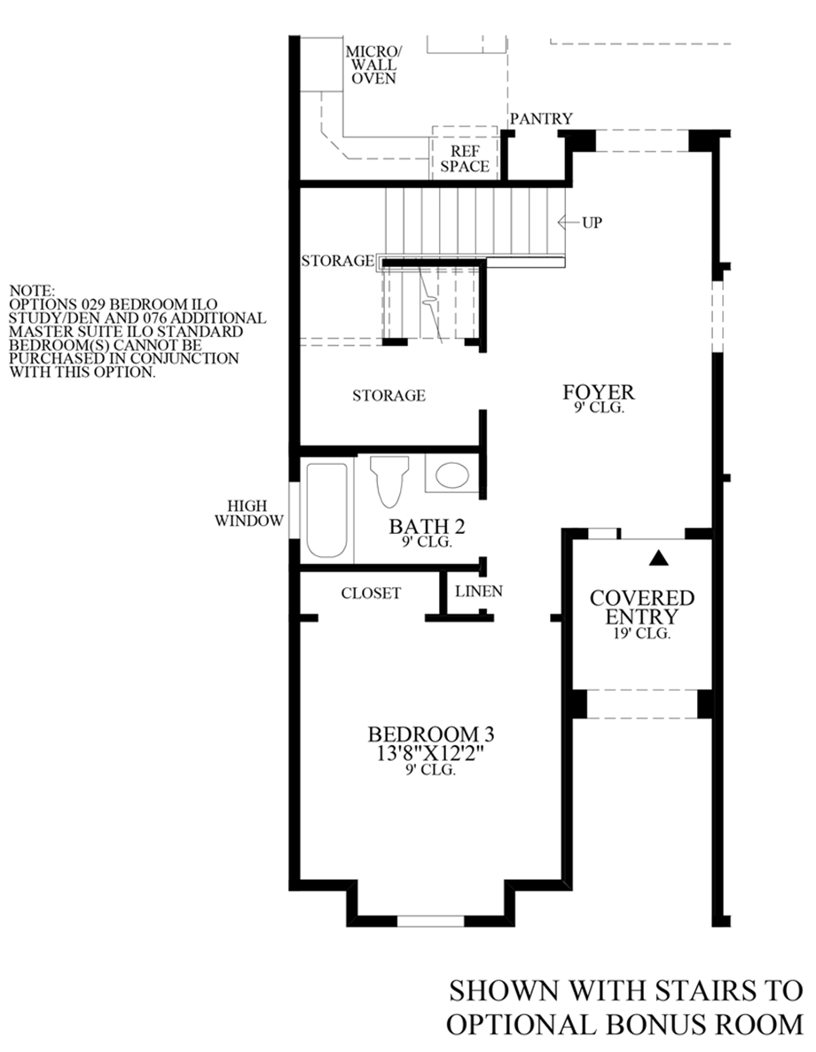 Optional Stairs to Bonus Room Floor Plan