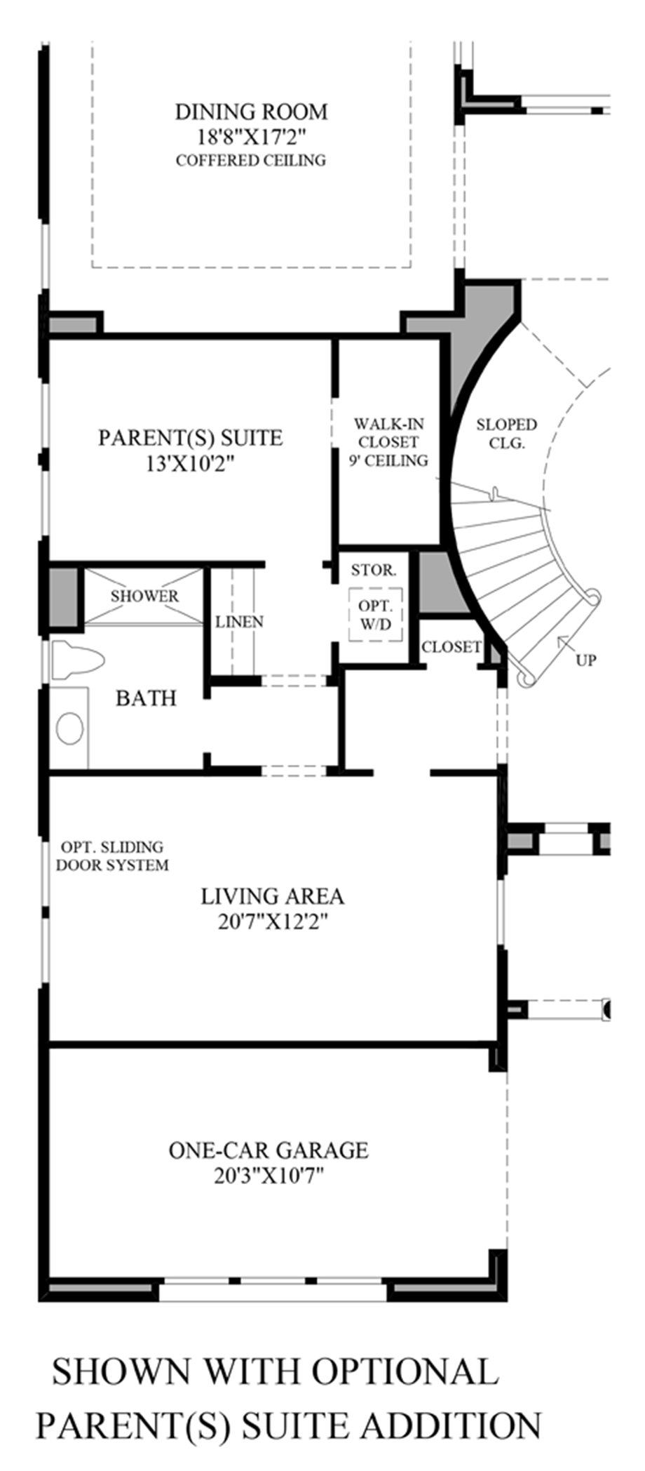 Optional Parents Suite Addition Floor Plan