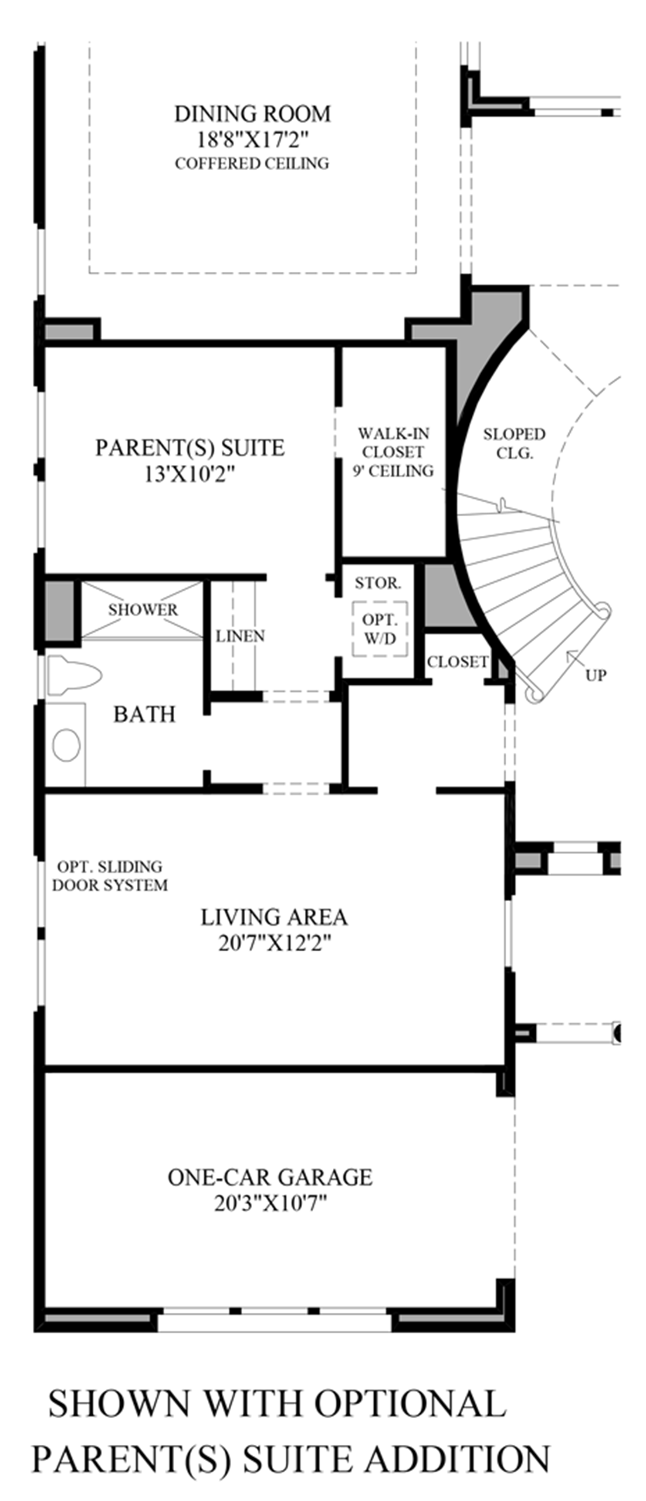 Optional Parents Suite Addition Floor Plan