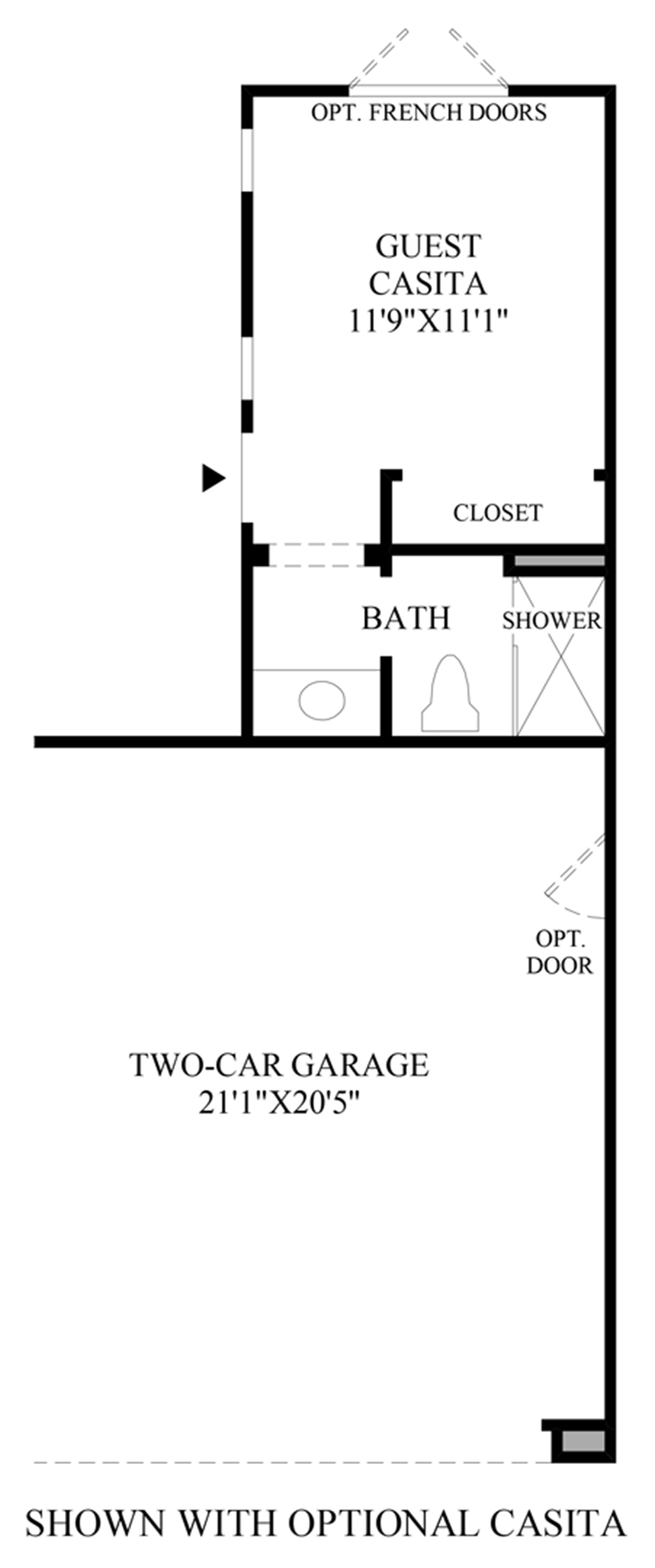 Optional Casita Floor Plan