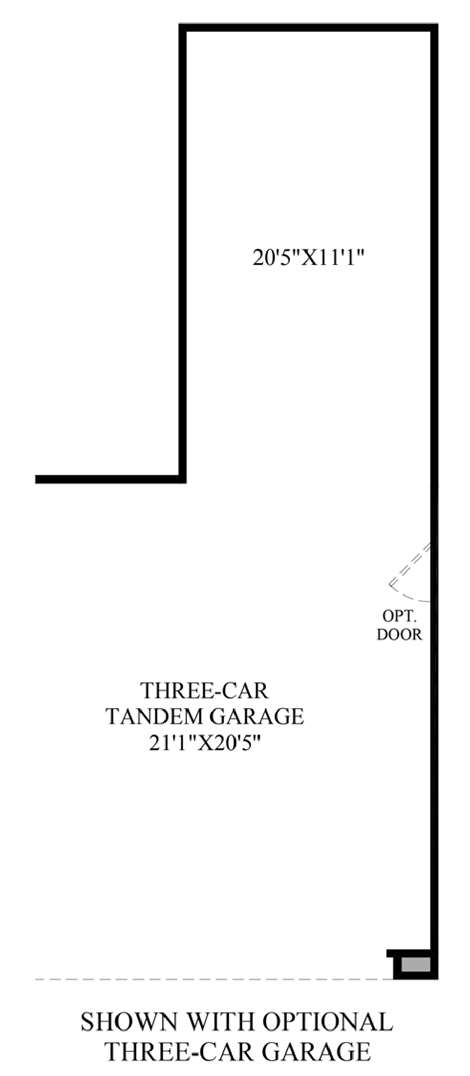 Optional Three-Car Garage Floor Plan