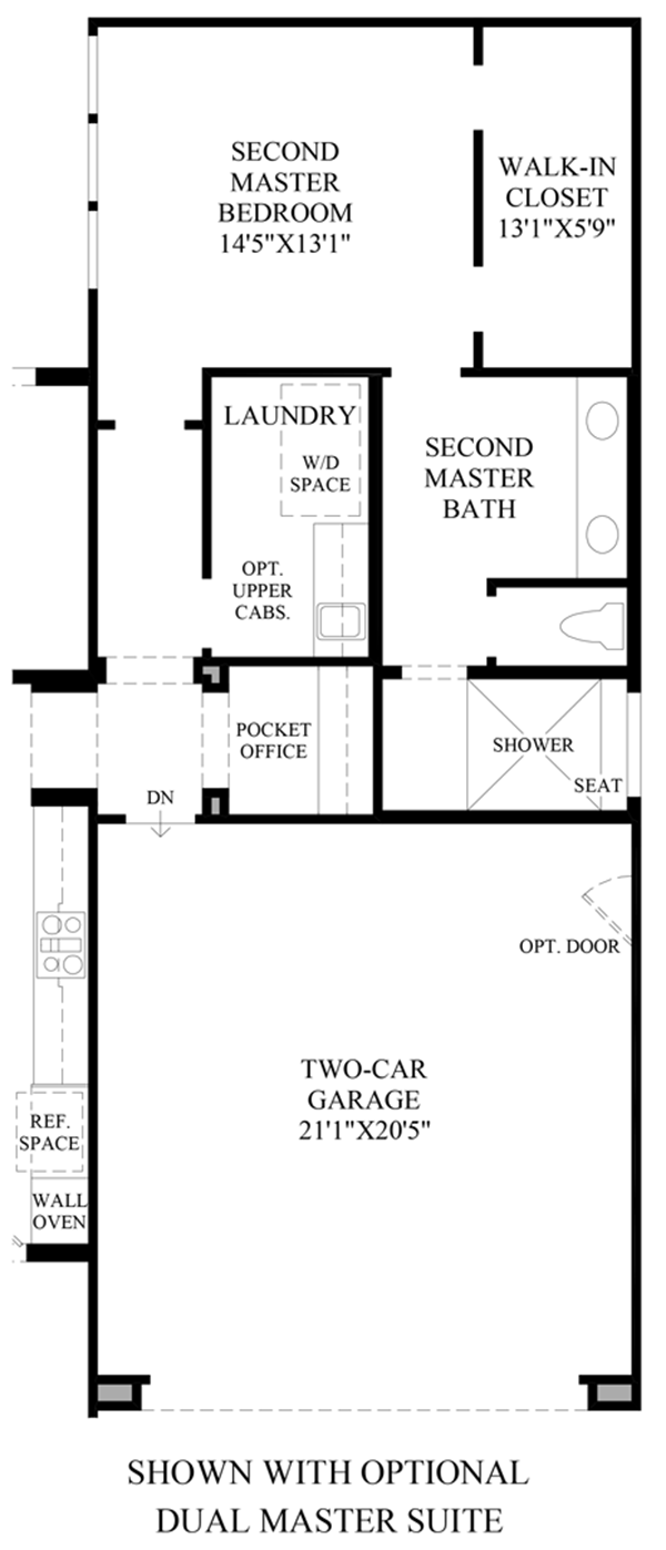 Optional Dual Master Suite