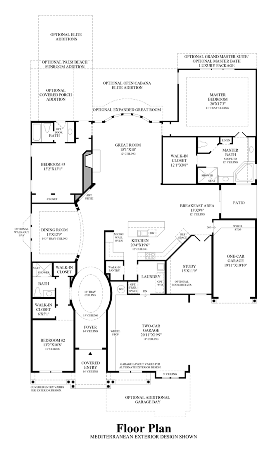 The overlook at colleyville the marquette home design for Design your own kitchen floor plan