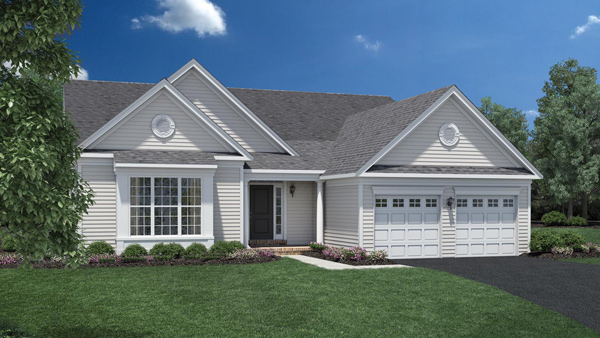 Image of the Marshall home design with white siding located in the Regency at Monroe Community