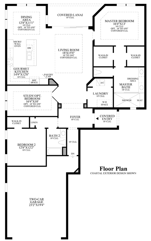 Naples fl carriage homes for sale azure at hacienda for Coach house floor plans