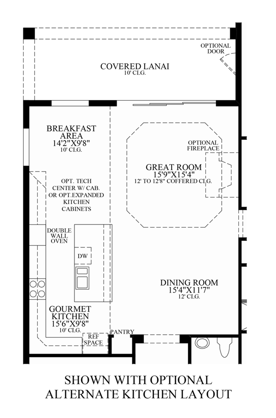 Optional Alternate Kitchen Layout Floor Plan