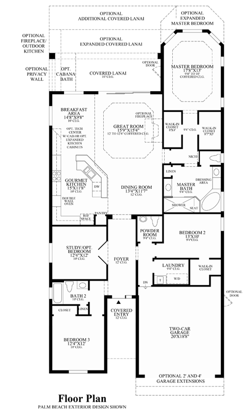 miano_1_1800 Mercedes Homes Floor Plans Florida Cypress Palm on