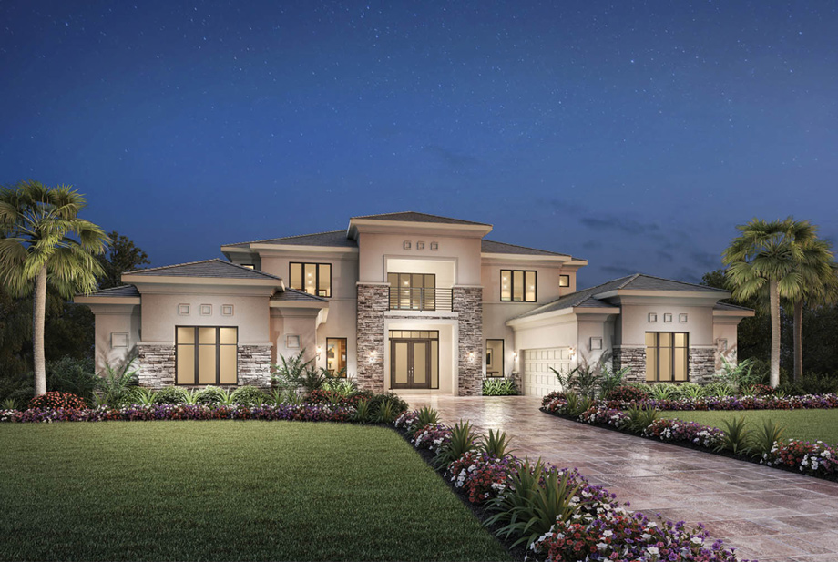 Royal palm polo signature collection the villa milano for Royal homes house plans