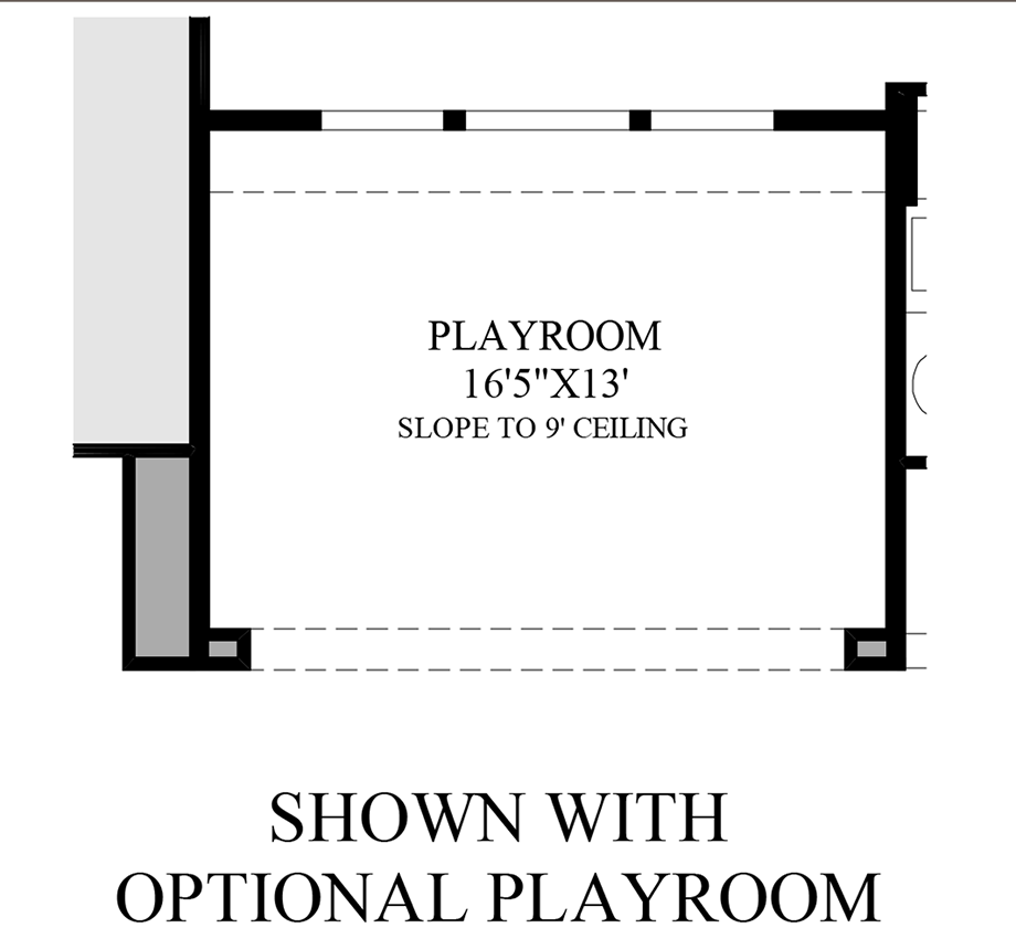 Optional Playroom Floor Plan