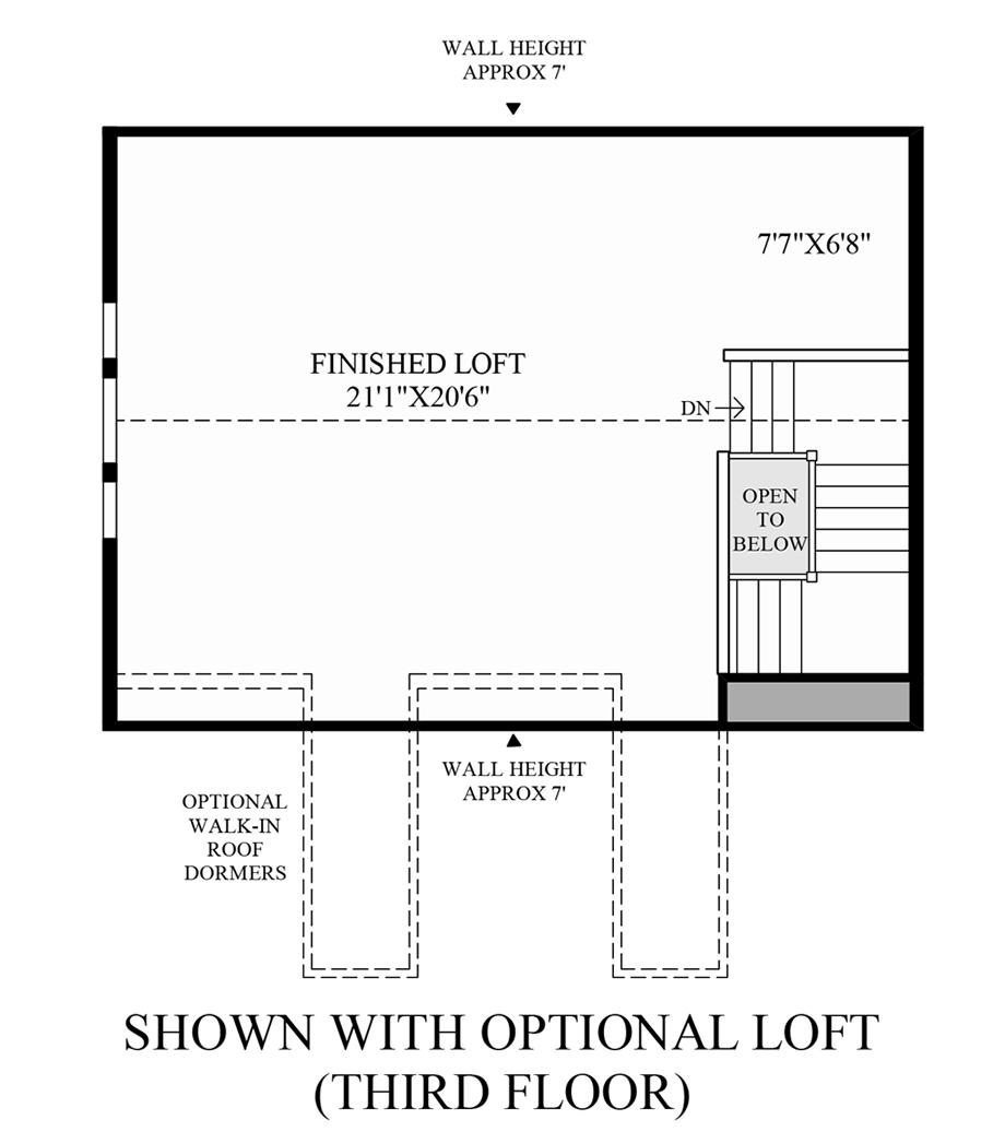 Optional Loft (3rd Floor) Floor Plan