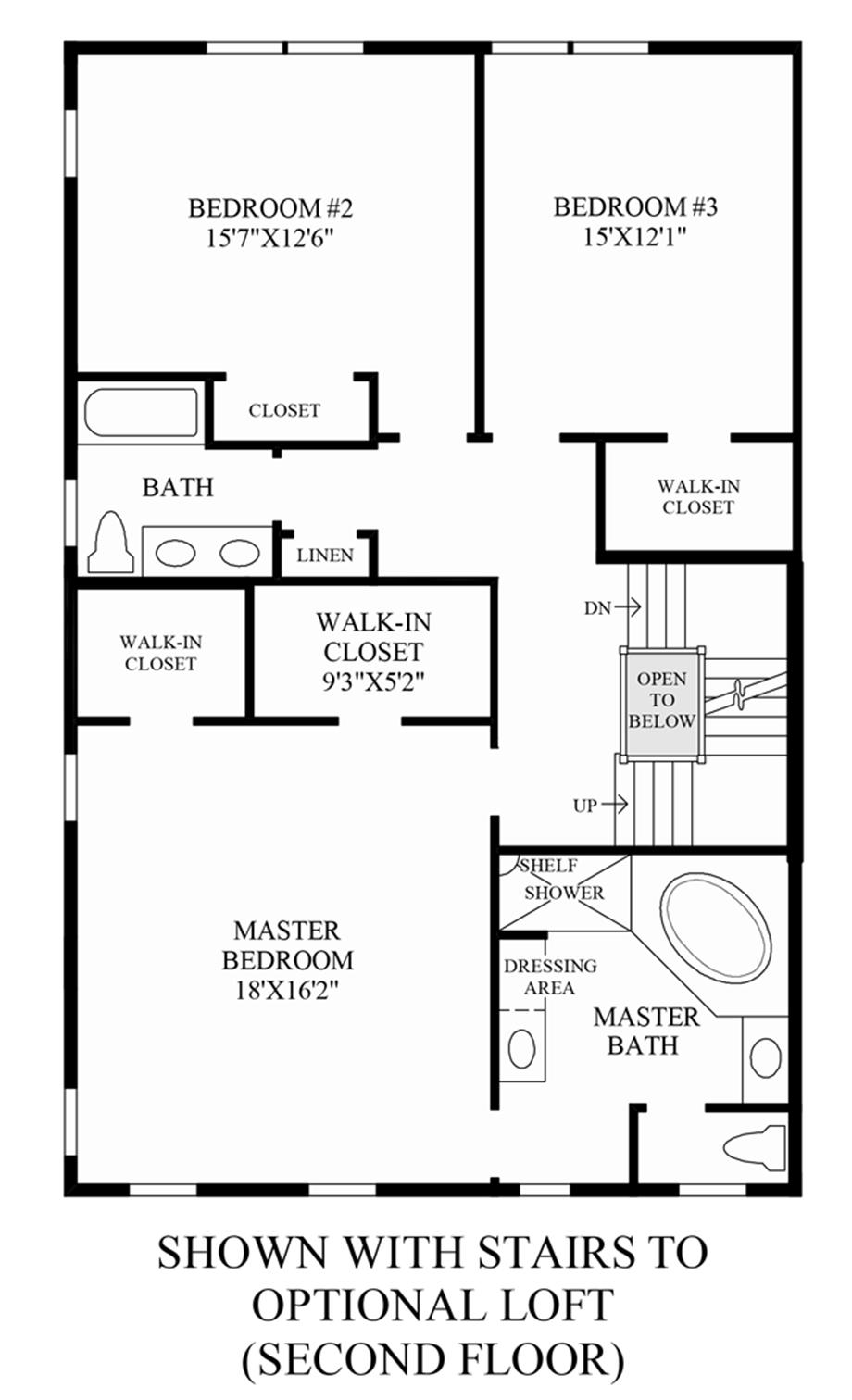 Stairs to Optional Loft (2nd Floor) Floor Plan