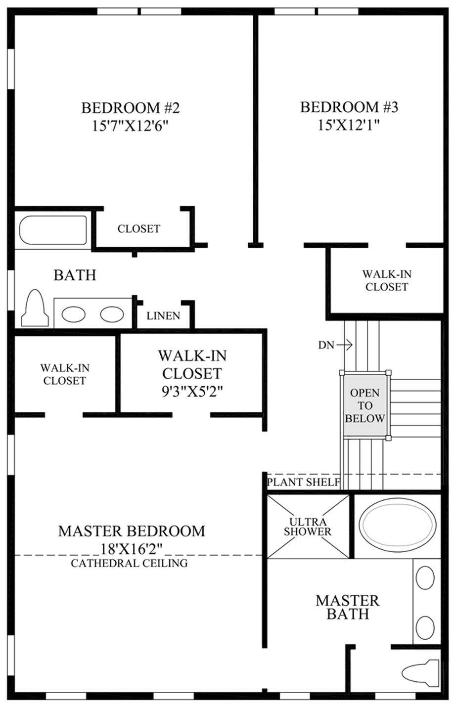 Optional Ultra Shower Floor Plan