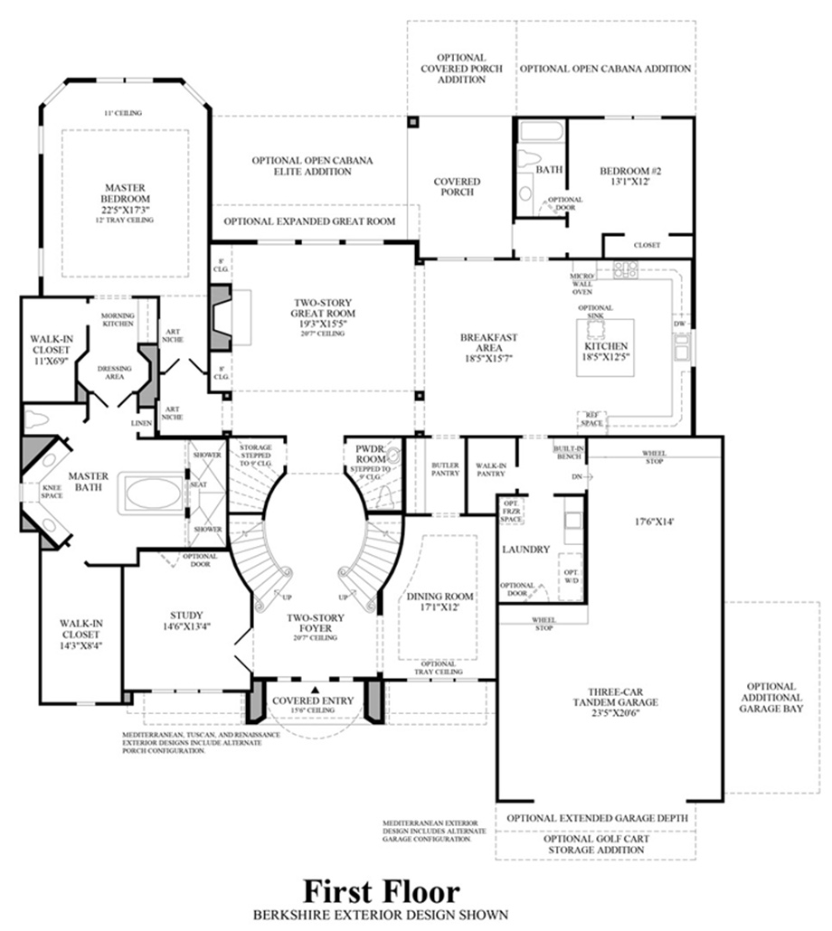 The woodlands creekside park the estates at blairs way for Floor plans first