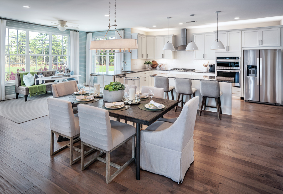 Open kitchen and casual dining area shown with optional Solarium sunroom addition