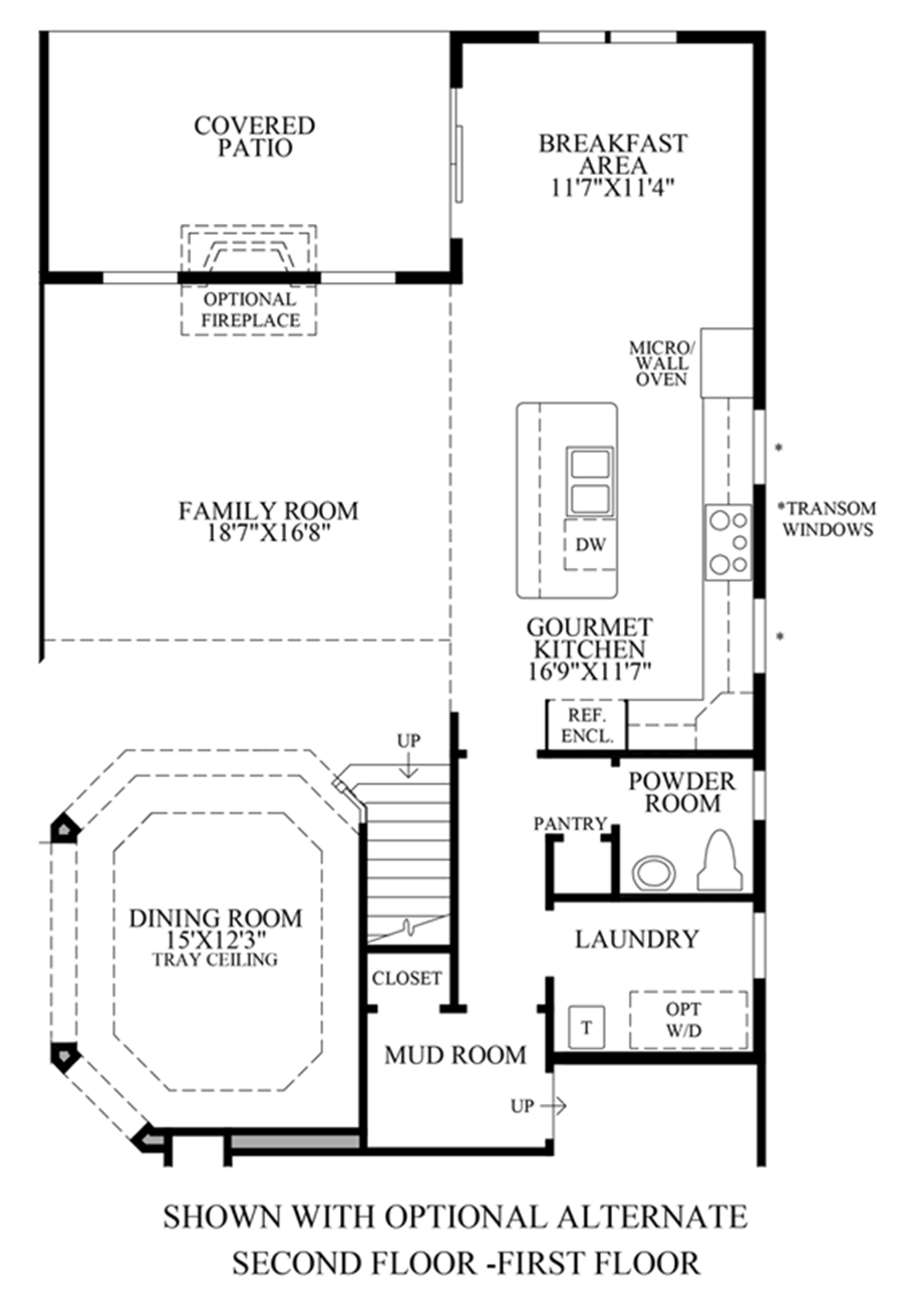 Optional Stairs Floor Plan