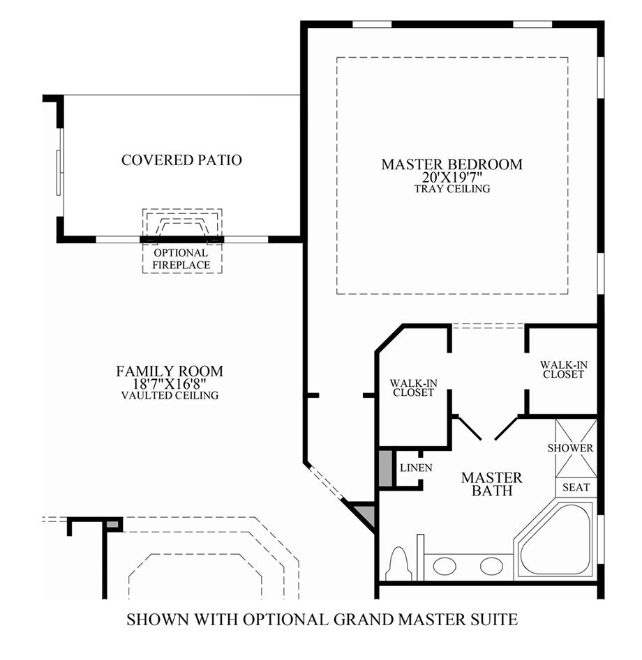 Optional grand master suite floor plan for Kitchen design 08831
