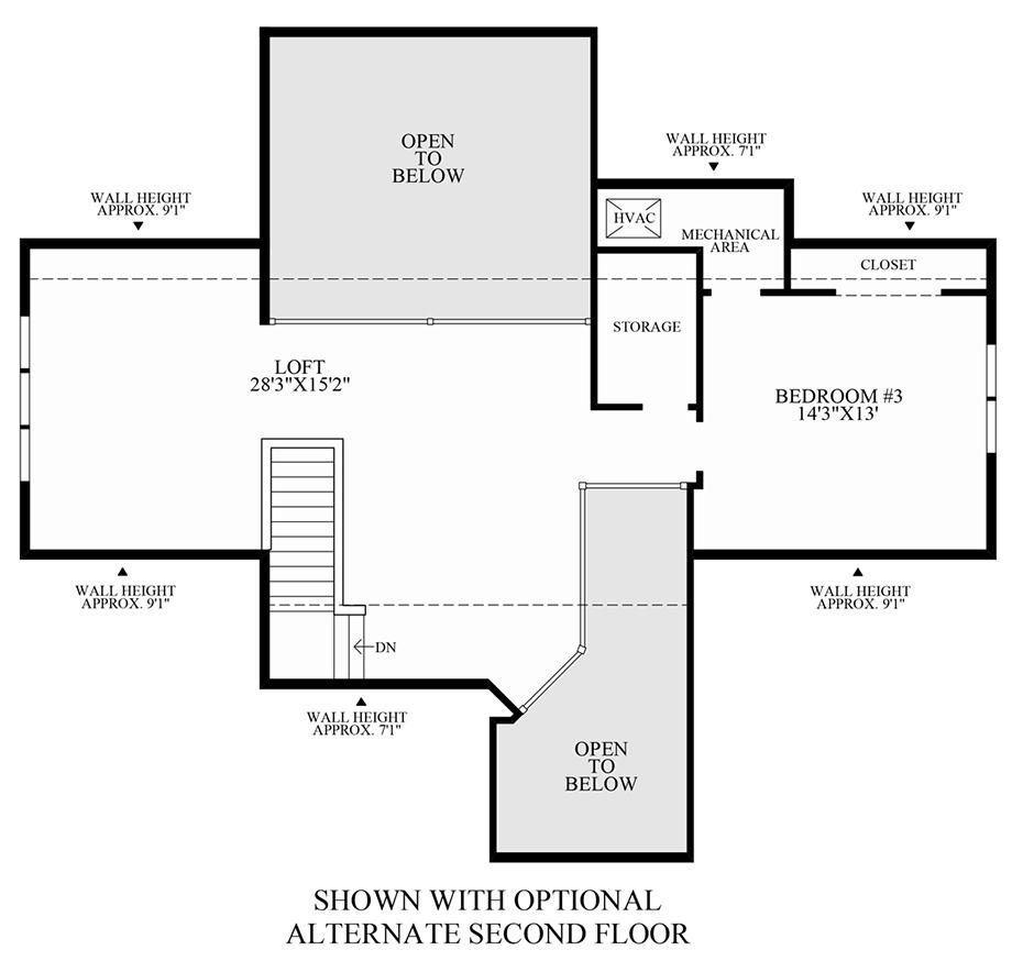 Optional 2nd Floor Floor Plan