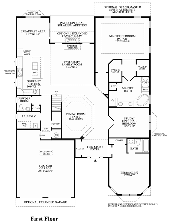 Floorplans at Regency at Monroe