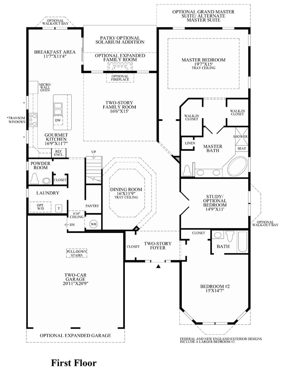 regency at monroe the merrimack home design 1st floor floor plan