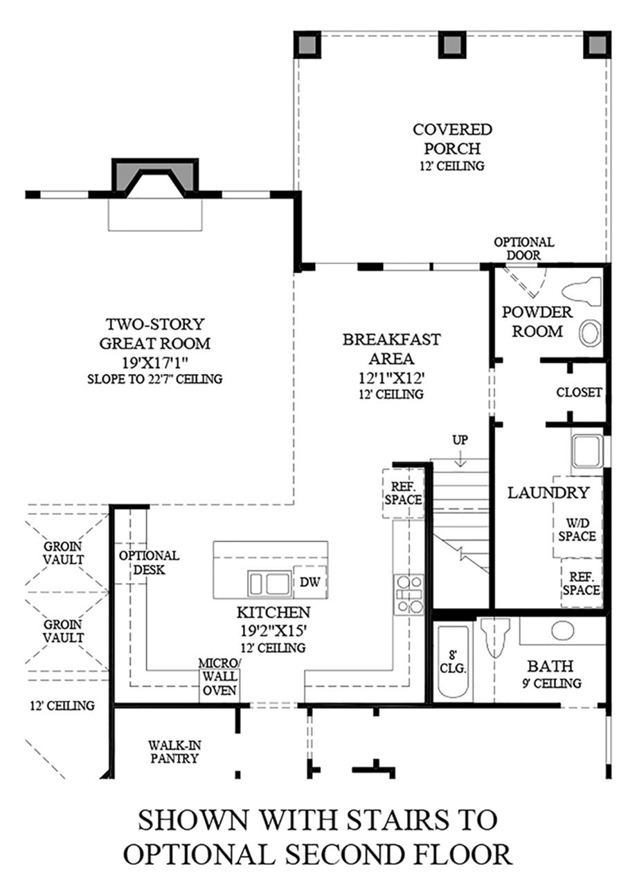 Optional Playroom, Media Room Addition, Fourth Bedroom, and Au Pair Suite Floor Plan