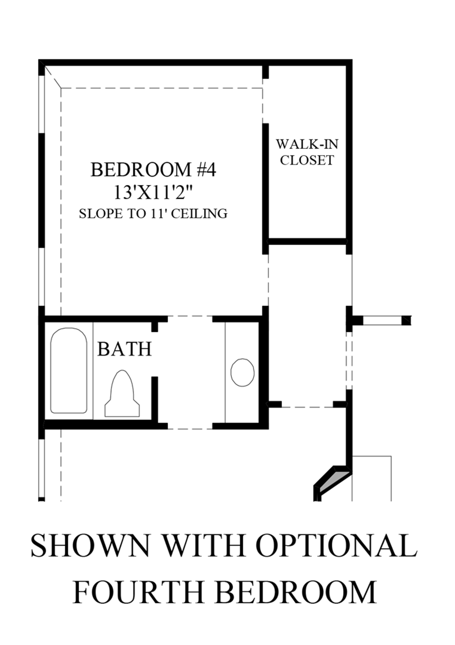 Optional Fourth Bedroom Floor Plan