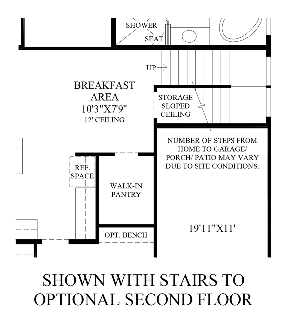 Optional Stairs to 2nd Floor Floor Plan