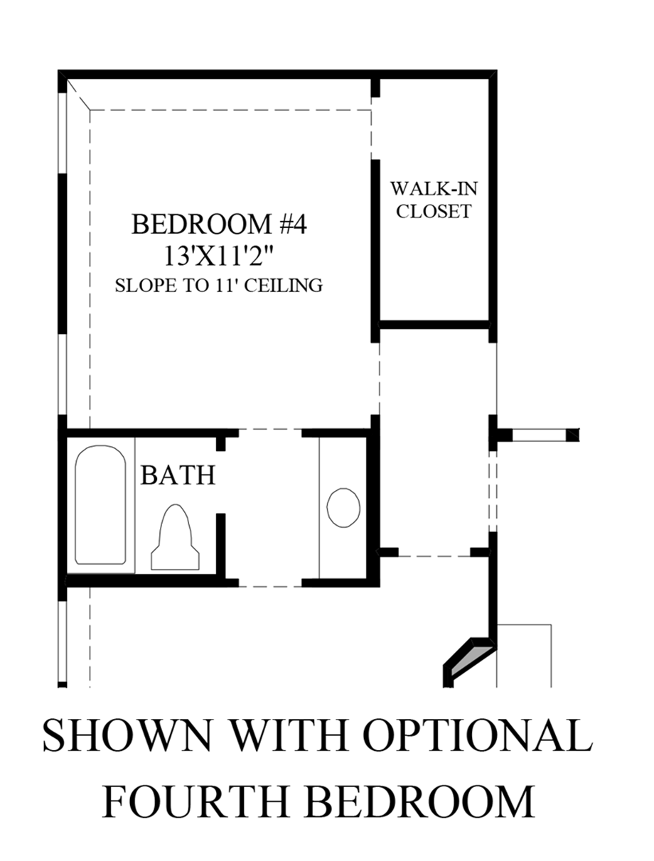 Optional 4th Bedroom Floor Plan