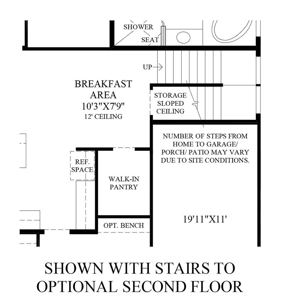 Optional Stairs to 2nd Floor Floor Plan