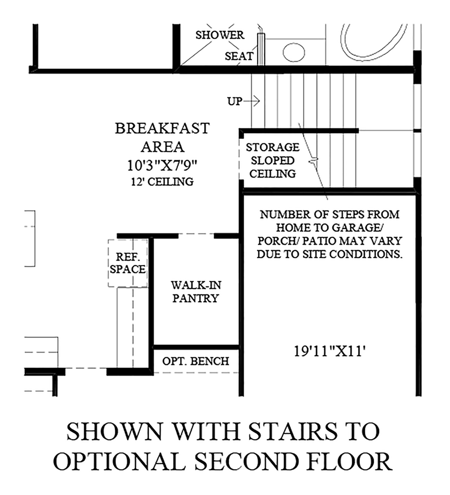 Stairs to Optional Second Floor Floor Plan