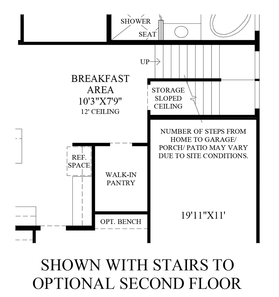Stairs to Optional 2nd Floor Floor Plan